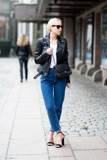Прямые джинсы укороченные