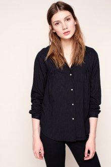 Черная рубашка женская в полоску