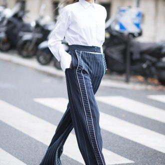 Женская белая рубашка с брюками