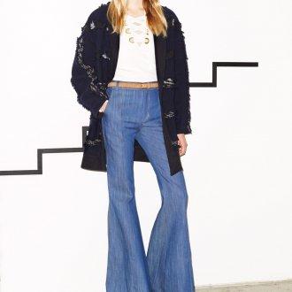 Длинные джинсы клеш