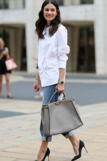 Офисная блузка белая