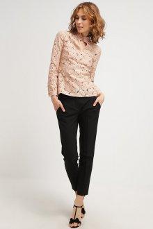 Гипюровая офисная блузка
