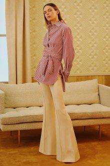 Полосатая блузка с баской