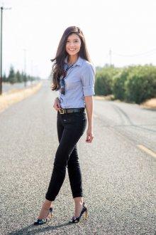 Черные джинсы узкие