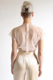 Бежевая блузка прозрачная