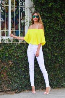 Желтая блузка летняя