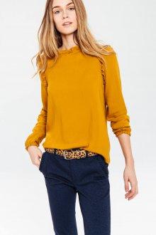 Желтая блузка прямая