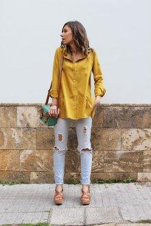 Желтая рубашка