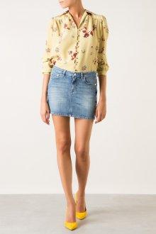 Шелковая желтая блузка