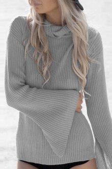 Трикотажная блузка серая