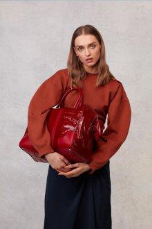 Красная блузка трикотажная