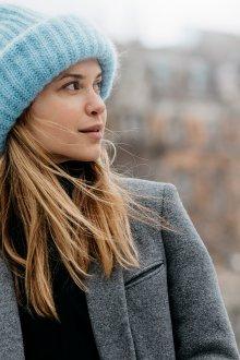 Зимняя шапка вязаная 2018