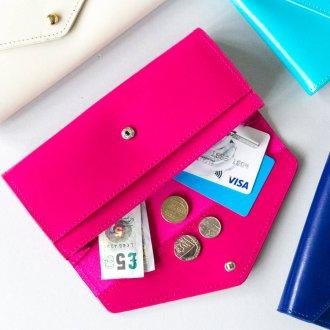 Женский кошелек розовый