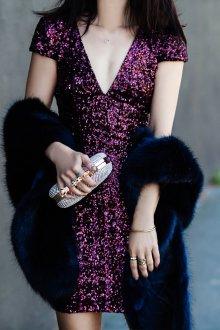 Новогоднее платье фиолетовое