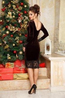 Новогоднее кружевное платье
