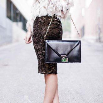 Новогодняя бархатная юбка