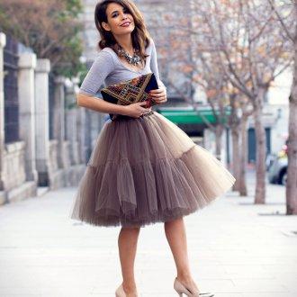 Новогодняя пышная юбка