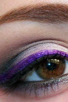 Фиолетовый макияж на новый год 2019