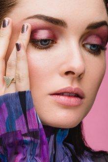 Розовый макияж на новый год 2018