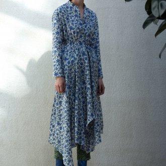 Демисезонные синие сапоги