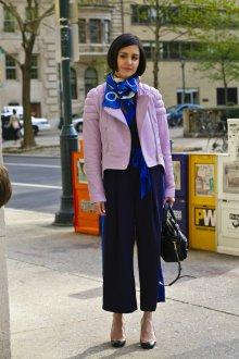 Шелковый шарф электрик