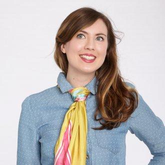 Шелковый шарф галстук