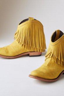 Желтые ботинки с бахромой