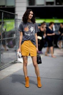 Желтые ботинки осенние