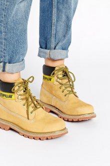 Желтые ботинки зимние
