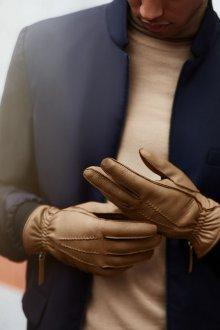 Бежевые мужские перчатки