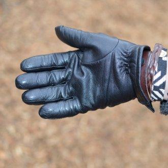 Черные мужские перчатки
