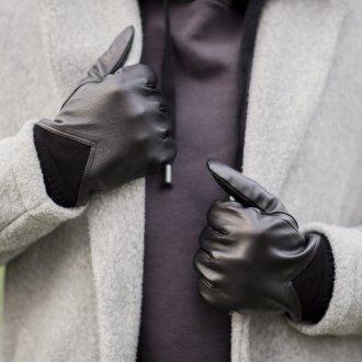 Мужские перчатки из кожи