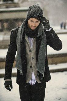 Мужские перчатки в полоску