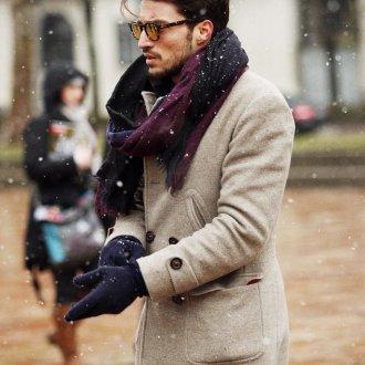 Мужские перчатки шерстяные