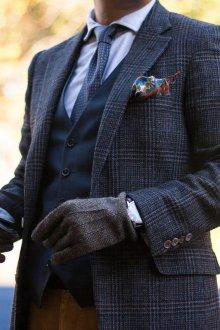 Мужские перчатки тканевые