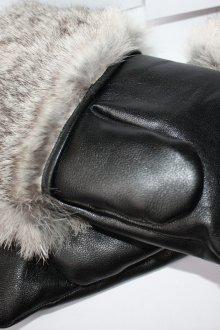 Мужские варежки кожаные