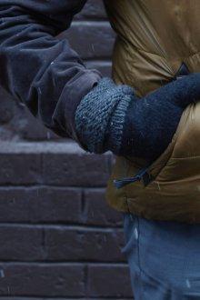 Мужские перчатки из войлока