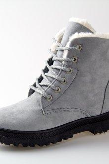 Серые ботинки с мехом