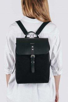 Черный рюкзак комбинированный