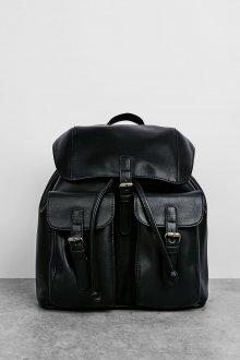 Черный рюкзак кожаный