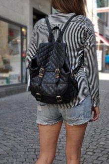 Черный рюкзак однотонный