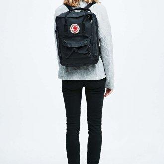 Черный рюкзак текстильный