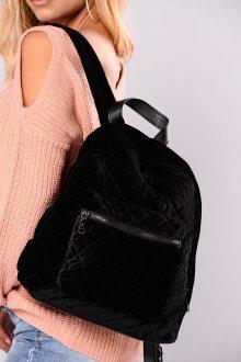 Черный рюкзак велюровый