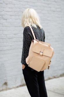 Городской рюкзак бежевого цвета