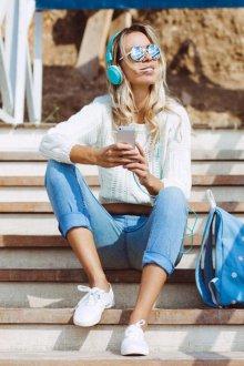 Городской рюкзак джинсовый