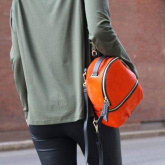 Городской рюкзак оранжевый