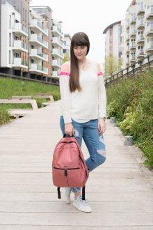 Городской рюкзак розового цвета