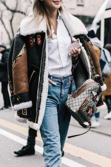Городской рюкзак с вышивкой