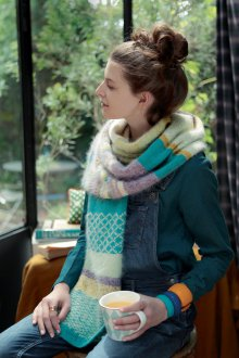 Вязаный шарф из ангоры
