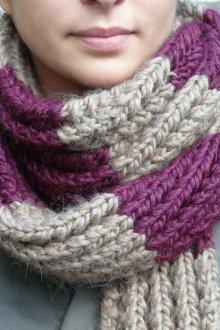 Вязаный шарф фиолетовый